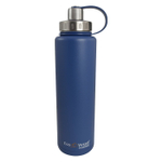 Eco Vessel Bigfoot Hudson Blue Stainless Steel Triple Insulated 45 Ounce Water Bottle with Screw Cap