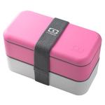 Monbento MB Original V Pink and White Bento Box