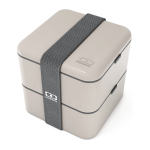 Monbento MB Grey Square Bento Box