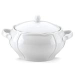 The French Chefs Maria Porcelain White 2.5 Quart Soup Tureen