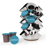 Nambe Ridge Stainless Steel and Wood 25 Pod Coffee Carousel