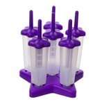 Tovolo Purple Star Ice Pop Mold, Set of 6
