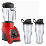 Vitamix S50 Red 40 Ounce Blender with Two 20 Ounce Travel Cups