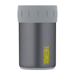 Thermos Charcoal with Lime Accents Stainless Steel 12 Ounce Beverage Can Insulator