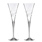 Lenox Adorn Crystal 8 Ounce Toasting Flute Glass, Set of 2