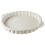 Revol Les Naturels Cream Porcelain 45.25 Ounce Tart Dish