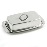 Norpro Stainless Steel Covered Double Butter Dish