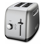KitchenAid Contour Silver 2-Slice Long Slot Toaster with High Lift Lever
