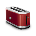 KitchenAid Empire Red 4-Slice Long Slot Toaster with High Lift Lever