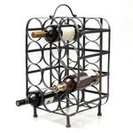 Metal Cube Shaped 12 Bottle Wine Rack