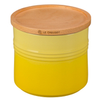 Le Creuset Soleil Stoneware 1.5 Quart Canister with Wooden Lid