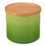 Le Creuset Palm Stoneware 1.5 Quart Canister with Wooden Lid