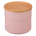 Le Creuset Hibiscus Stoneware 1.5 Quart Canister with Wooden Lid