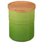Le Creuset Palm Stoneware 2.5 Quart Canister with Wooden Lid