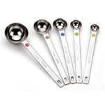 RSVP Endurance DOTS 5 Piece Measuring Spoon Set