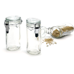 RSVP Oval Glass Spice Bottle, Set of 6
