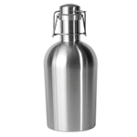 Asobu Silver Stainless Steel Growler 2 Go 2 Quart Beverage Container