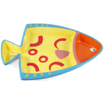 Boston Warehouse Go Fish Ceramic Chip and Dip Platter
