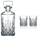 Nachtmann Noblesse 3 Piece Crystal Decanter and Whisky Glass Set