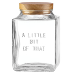kate spade new york kitchen Words Little Bit of That Medium 7 Inch Canister