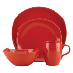 Dansk Classic Fjord Chili Red 4 Piece Dishware Place Setting
