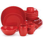 Dansk Classic Fjord Chili Red 16 Piece Dinnerware Set