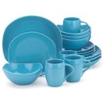 Dansk Classic Fjord Sky Blue 16 Piece Dinnerware Set