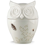 Lenox Butterfly Meadow Figural Owl 9.5 Inch Cookie Jar