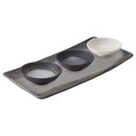 Revol Arborescence Porcelain Cheese Presentation Set with Pepper Serving Platter