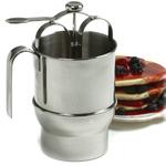 Norpro Jumbo Stainless Steel Pancake Batter Dispenser with Holder