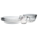 Anchor Hocking 5 Piece 9.5 Inch Deep Pie Dish Set