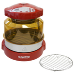 NuWave Oven Red Pro Plus with Stainless Steel Extender Ring Kit and Additional 9.25 Inch Cooling Rack