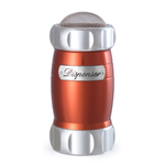 Atlas Red Flour Dispenser with Mesh Screen