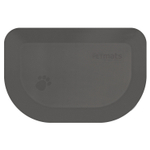 Wellness PetMats Gray Cloud Small 27 x 18 Inch Rounded Pet Mat