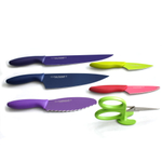 Kai Pure Komachi 2 Nonstick Stainless Steel 6 Piece Knife and Scissor Set