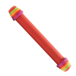 Mastrad 16 Inch Silicone Rolling Pin with Colored Rings