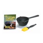Lodge 3 Piece Grillin' Sauces Pot and Brush Kit