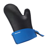 KitchenGrips Small Black Chef's Mitt with Blueberry Cuff