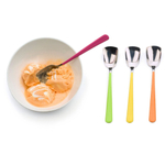 RSVP Endurance Stainless Steel Ice Cream Spoon with Colorful Handle, Set of 4