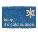 Entryways Baby It's Cold Outside Hand-Woven Coir Welcome Mat