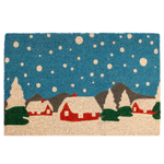 Entryways Snowy Village Hand-Woven Coir Welcome Mat