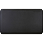 WellnessMats Black Standard Anti-Fatigue Mat, 3 x 2 Foot