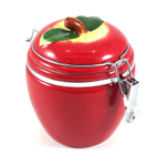 Boston Warehouse Apple Pickin' Hinged Ceramic Storage Jar