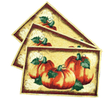 Crackle Pumpkin Cotton and Polyester 19 x 13.5 Inch Placemat, Set of 6