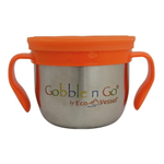 Eco Vessel Gobble N Go Silver Express Stainless Steel 16 Ounce Snack Cup with 2 Silicone Lids