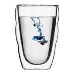Bodum Pilatus 12 Ounce Double Walled Glass Cup, Set of 2