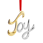Nambe Silver Plate Joy Holiday Ornament