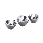Nambe Alloy 13 Inch Triple Condiment Server