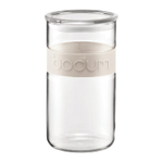Bodum Presso 68 Ounce Storage Jar With White Silicone Band