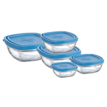 Duralex Lys 10 Piece Covered Square Storage Bowl Set